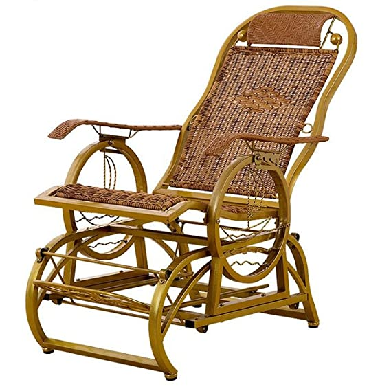 Amazon.com: ZR- Elderly Chair Fall Prevention Rocking Chair Wicker ...