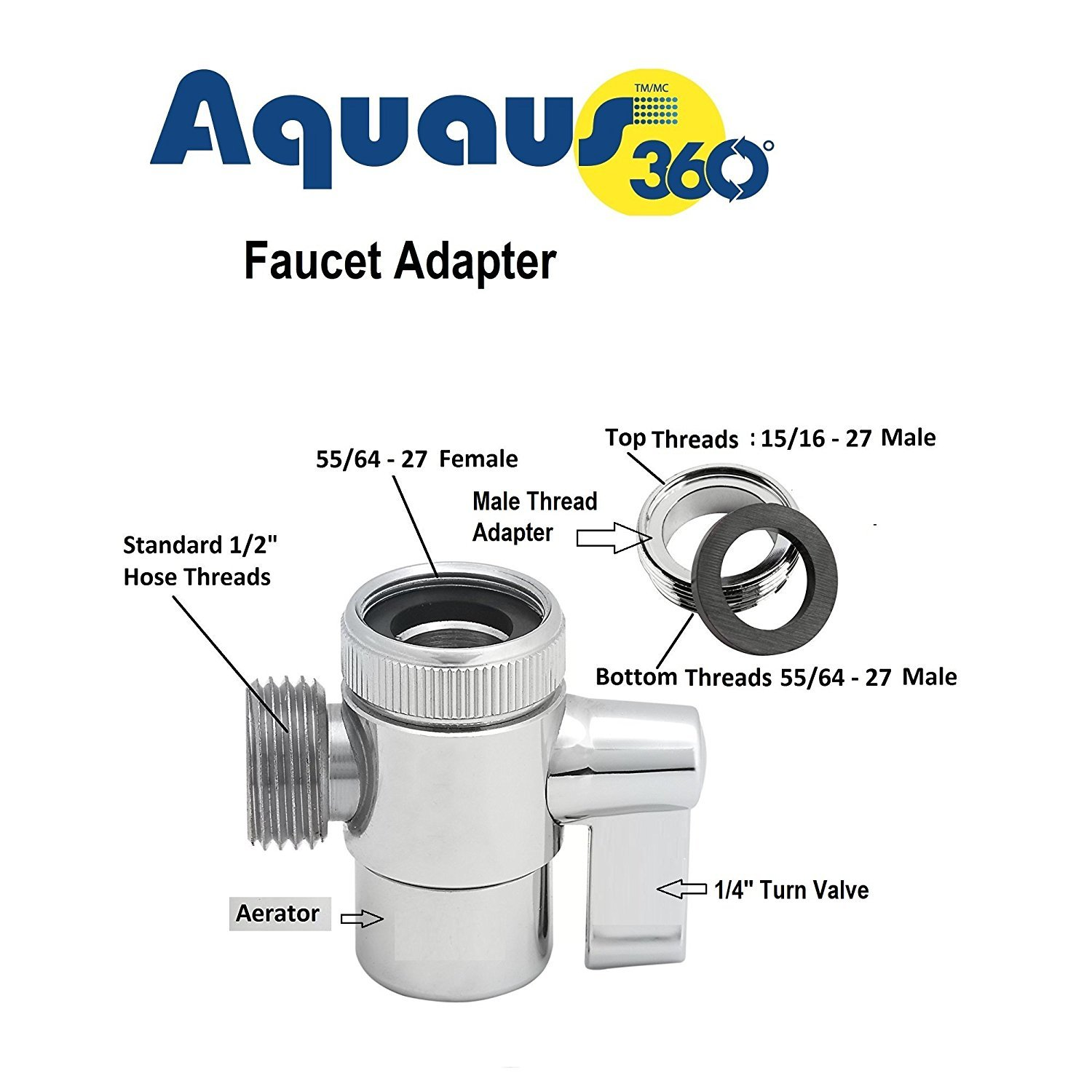 Beautiful Female To Male Faucet Adapter Image - Faucet Products ...