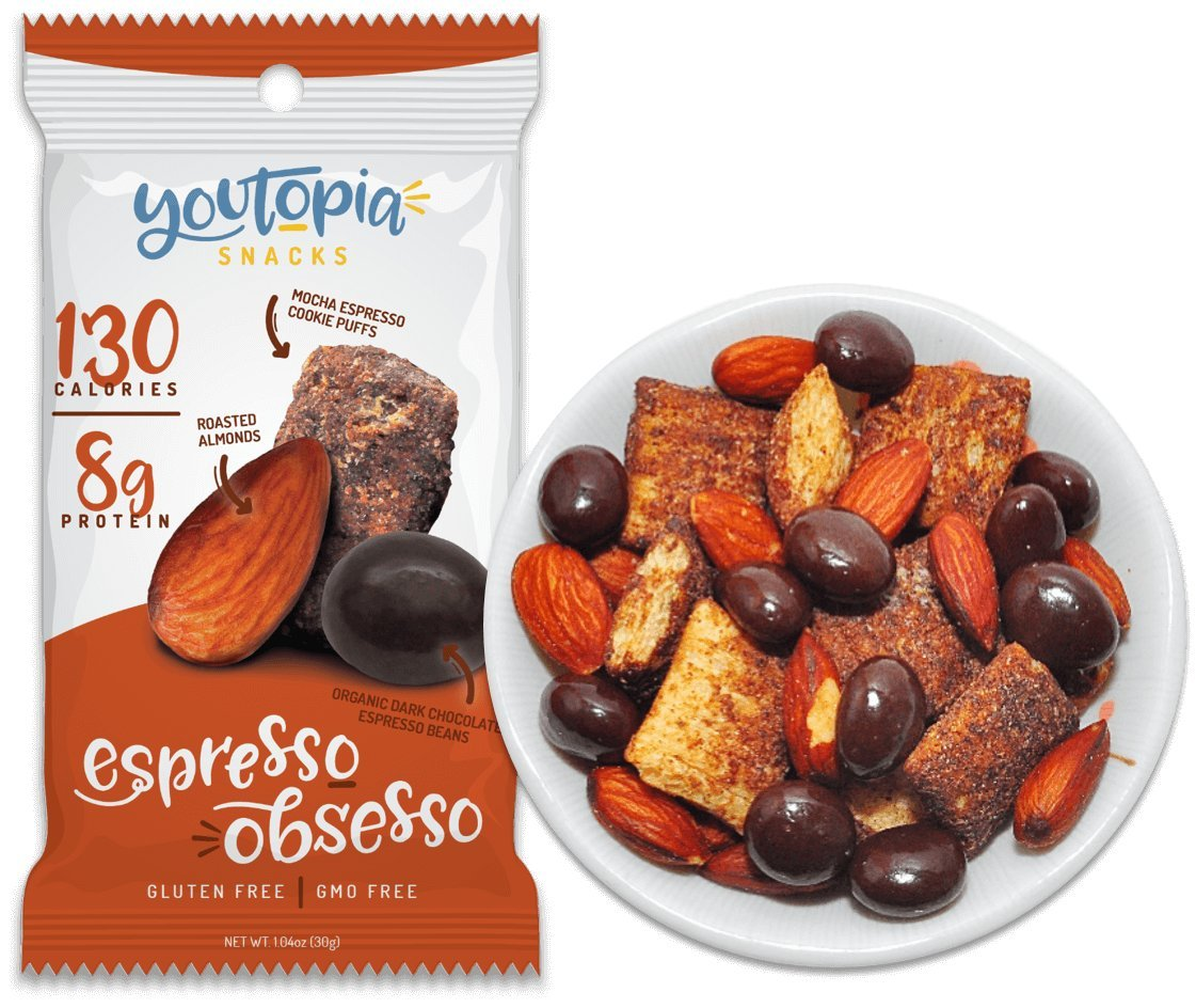 Youtopia Snacks High Protein Low Calorie Sugar Gluten Free Non Blue Diamond Roasted Almonds Barbecue 130 Gr Gmo Healthy Honey Bee B Q 10 Pack Grocery Gourmet Food