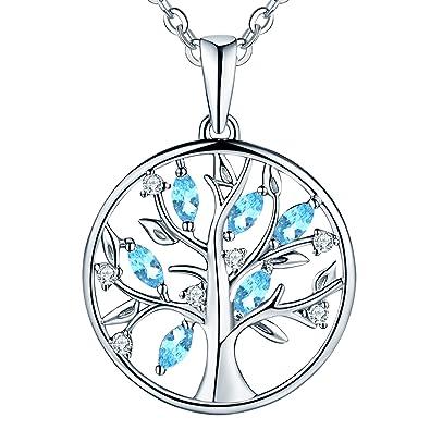 359eb867af78 JO WISDOM collar colgante arbol de la vida plata de ley 925 cristales  swarovski mujer joyería
