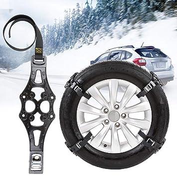 SHIOUCY 8PCS Cadenas de Nieve, Neumático de Coche Cadenas Antideslizantes Cadenas de Nieve Engrosamiento 165-275mm: Amazon.es: Coche y moto