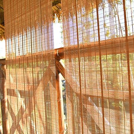 FF Estores enrollables Persianas con Persianas Enrollables Externas con Ganchos, Sombrillas Opacas para Exteriores para Patio Trasero con Pérgola Gazebo Patio, 70/90/110/130/140 Cm De Ancho: Amazon.es: Hogar