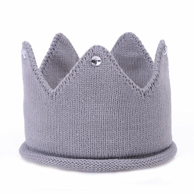 Amazon.com: Bebé Corona sombrero niños niñas diadema de ...