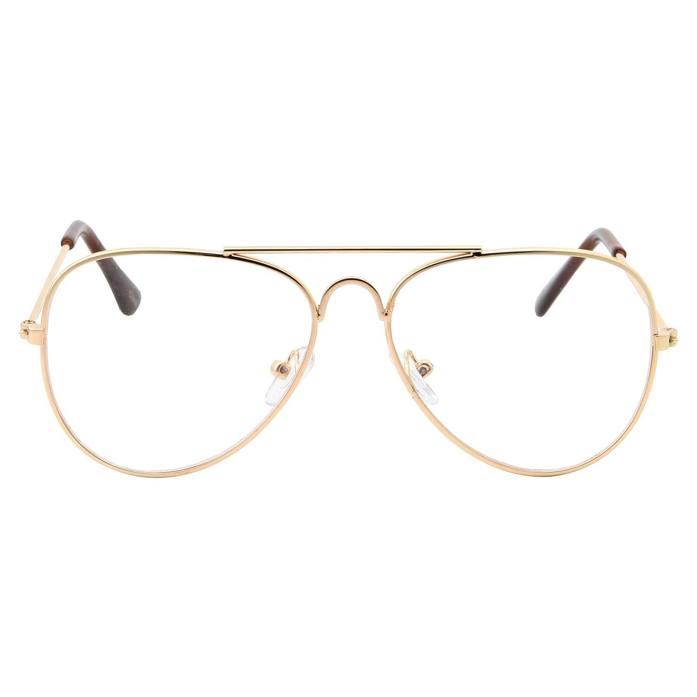 fe8644ce9fc Amazon.com  Kids Fake Aviator Eye Glasses Clear Lens Children s Non  Prescription (Age 3-10)
