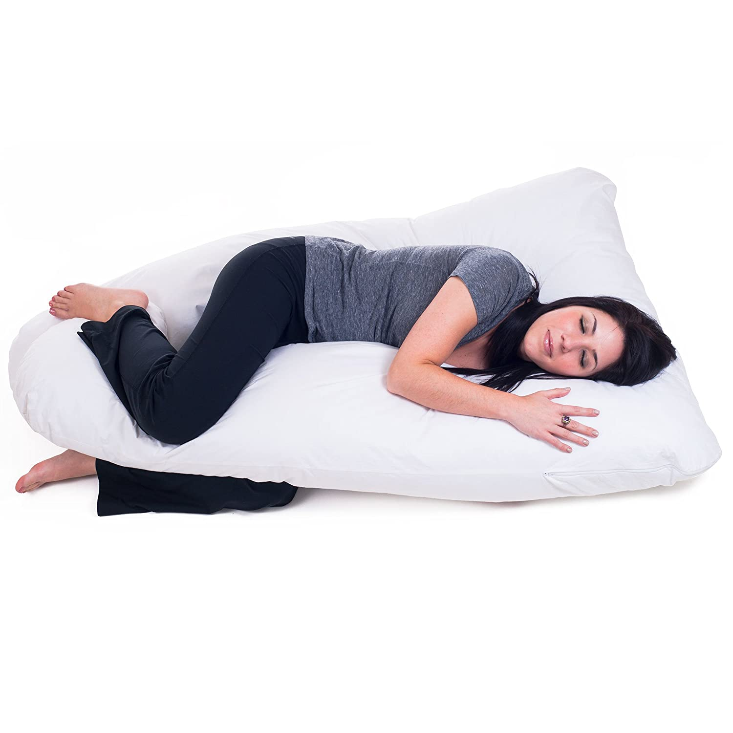 Bluestone 64AZ-89764 Full Body Contour U Pillow (Great for Pregnancy) Trademark Global