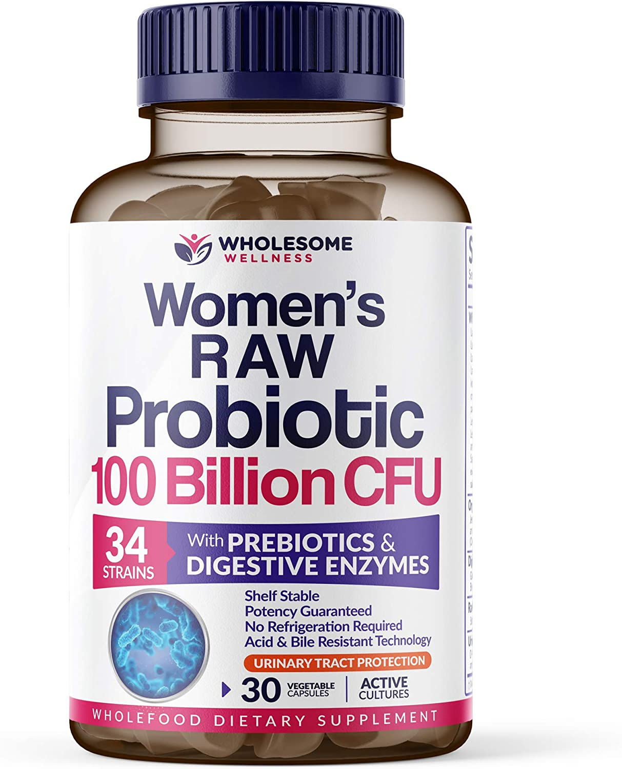 Amazon.com: Dr. Formulated Raw Probiotics for Women 100 Billion CFUs with  Prebiotics, Digestive Enzymes, & UT Support, Dr. Approved Women's Probiotic  for Adults, Shelf Stable Probiotic Supplement, 30 Capsules: Health &  Personal