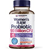 Dr. Formulated Raw Probiotics for Women 100 Billion CFU with Prebiotics, Digestive Enzymes, & UT Protection, Dr…