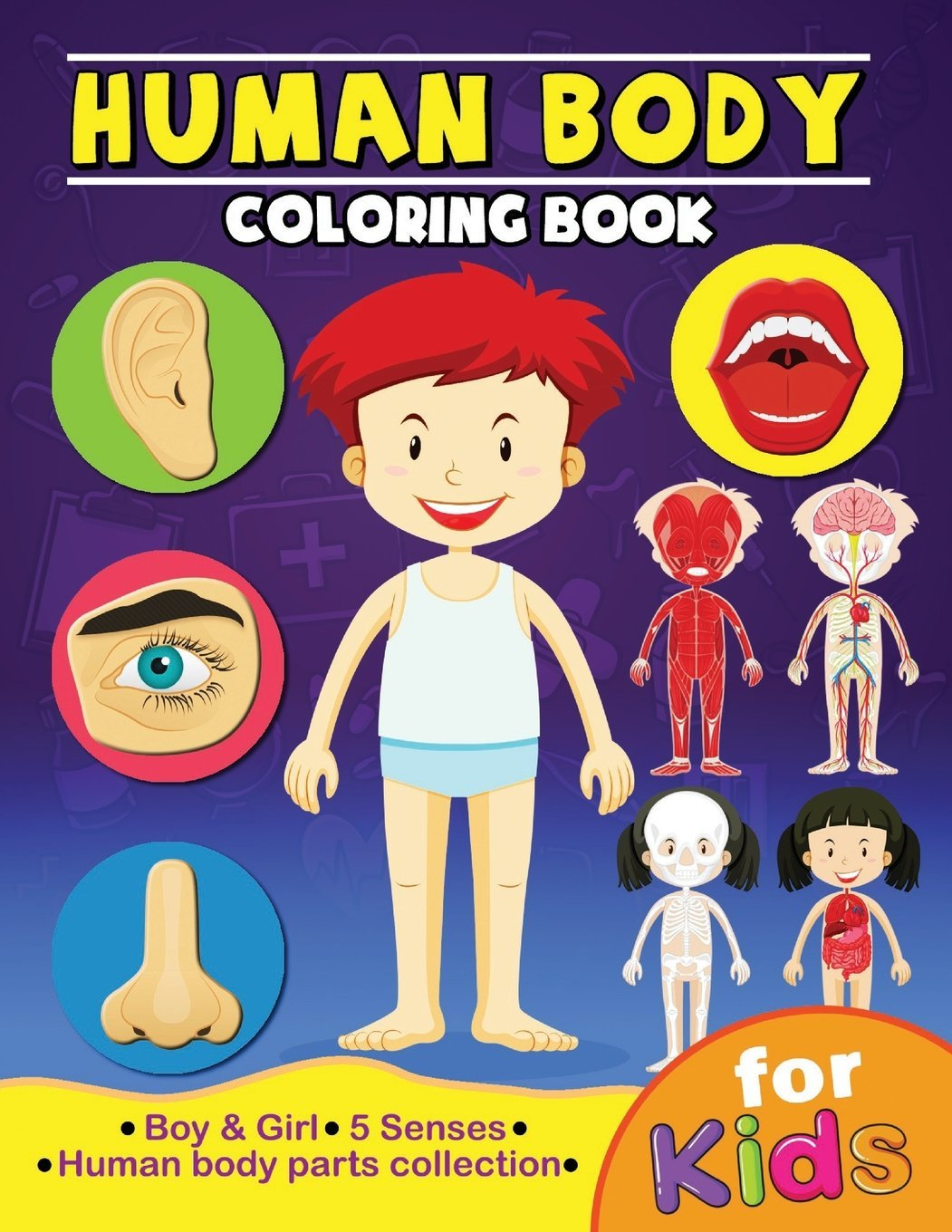 Human Body Coloring Book for Kids: Anatomy and 5 Senses ...