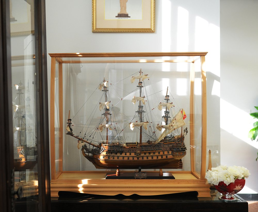Old Modern Handicrafts P033 Display Case for Midsize Tall Ship Clear Finish by Old Modern Handicrafts (Image #7)