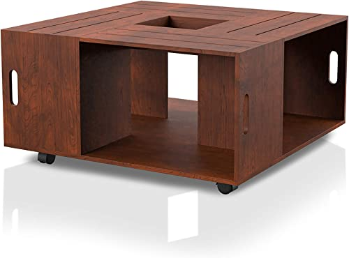 ioHOMES Trenton Contemporary Square Crate Coffee Table
