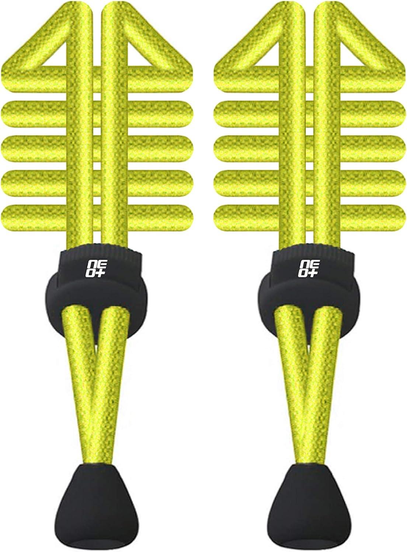 NEO+ Paquetes de elástico Redondo Cordones de Bloqueo para Correr y triatlón–UK Vendedor