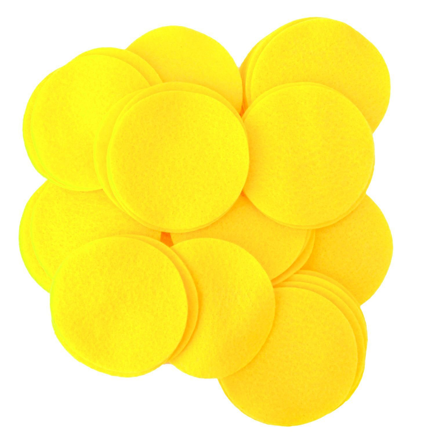 Playfully Ever After 2.5 Inch Yellow 46pc Felt Circles PEA-FELT-2.5in-46Yellow