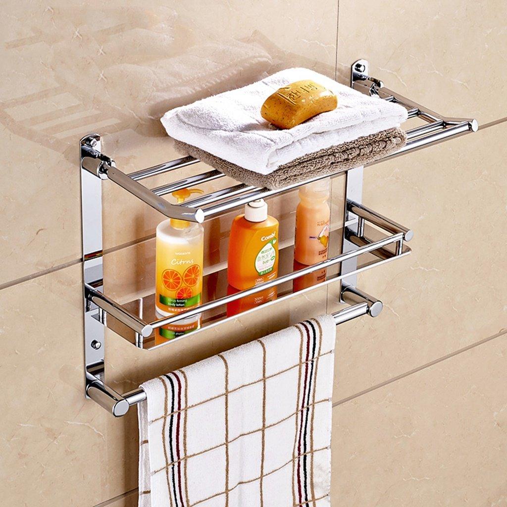 A Cqq Shelf Stainless Steel  Bathroom Racks Toilets Shelves (Design   C)