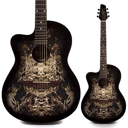 Guitarra acústica negra para zurdos 933C 'Alien' ...