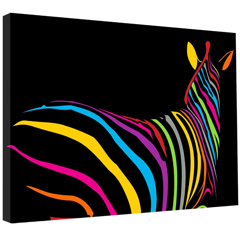 Funky zebra modern canvas picture wall art print 30x20 standard