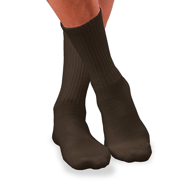 BSN Medical 110842 JOBST Sensifoot Diabetic Sock, Crew Style, Closed Toe, Medium, Brown