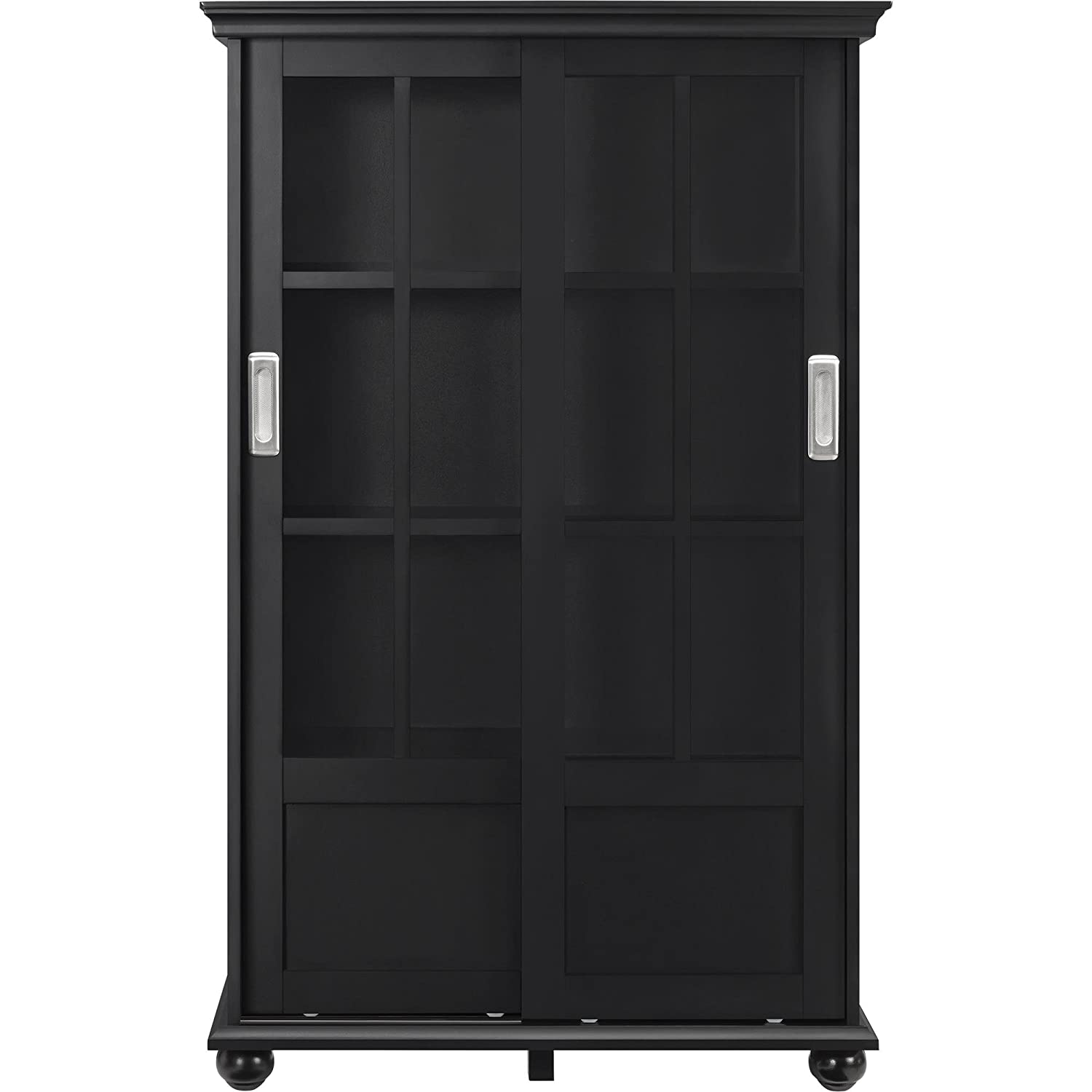 altra furniture altra aaron lane bookcase with sliding