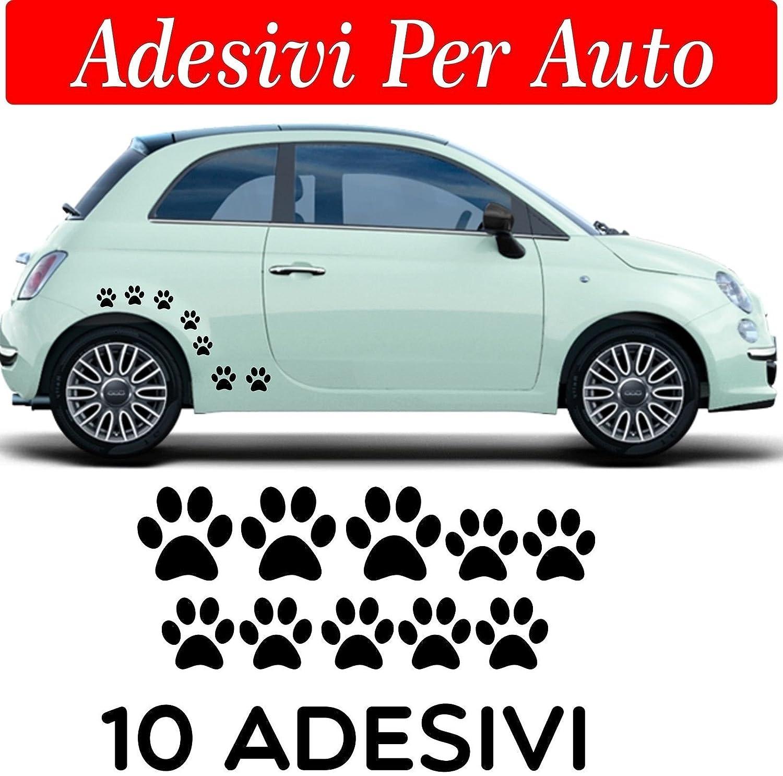 Amato 10 zampette adesive ADESIVI PER AUTO MOTO CASCHI - COLORE NERO - 3  JF17