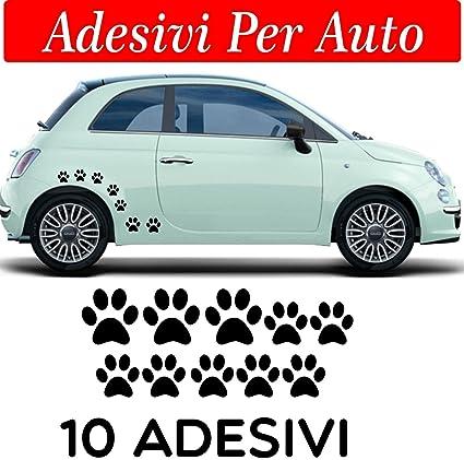 10 huellas adhesivas, pegatinas para coche, moto y cascos. 3 adhesivos de 5