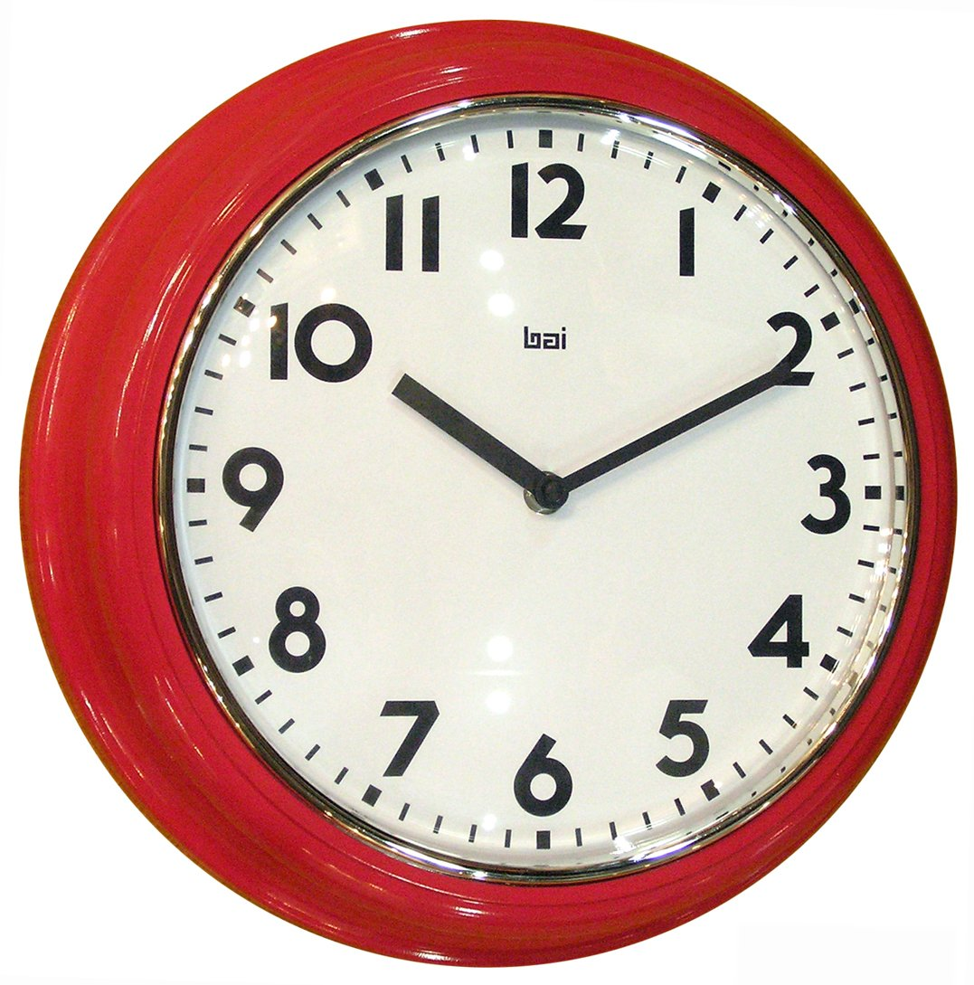 BAI School Wall Clock, Black