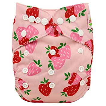 Ohbabyka Reusable Washable Baby Boys//Girls Pocket Cloth Diapers with 1pc Insert