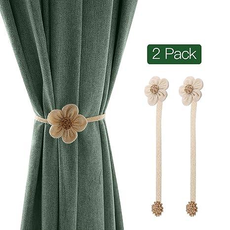 2PCS//1Pair Sunflower Window Curtain Tieback Buckle Drape Holdback Home Decor