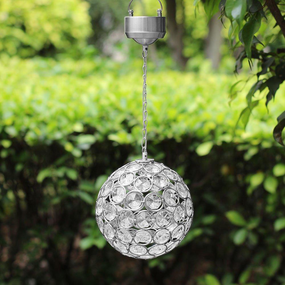 outdoor lighting balls. SolarCentre Aria Hanging Crystal Ball Solar Powered Outdoor Light - Warm White: Amazon.co.uk: Garden \u0026 Outdoors Lighting Balls