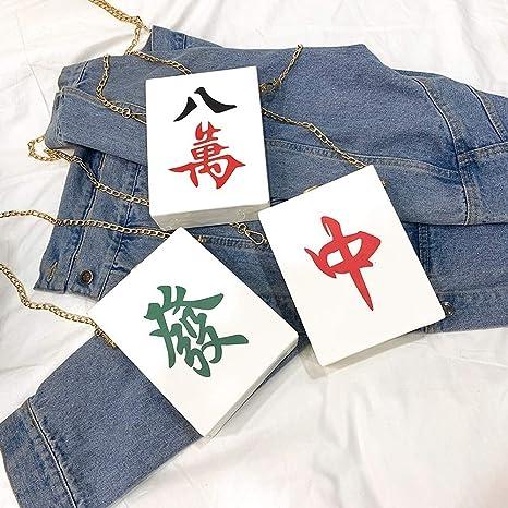 Ogquaton Bolsa Crossbody Personalidad Divertida Mahjong Caja ...