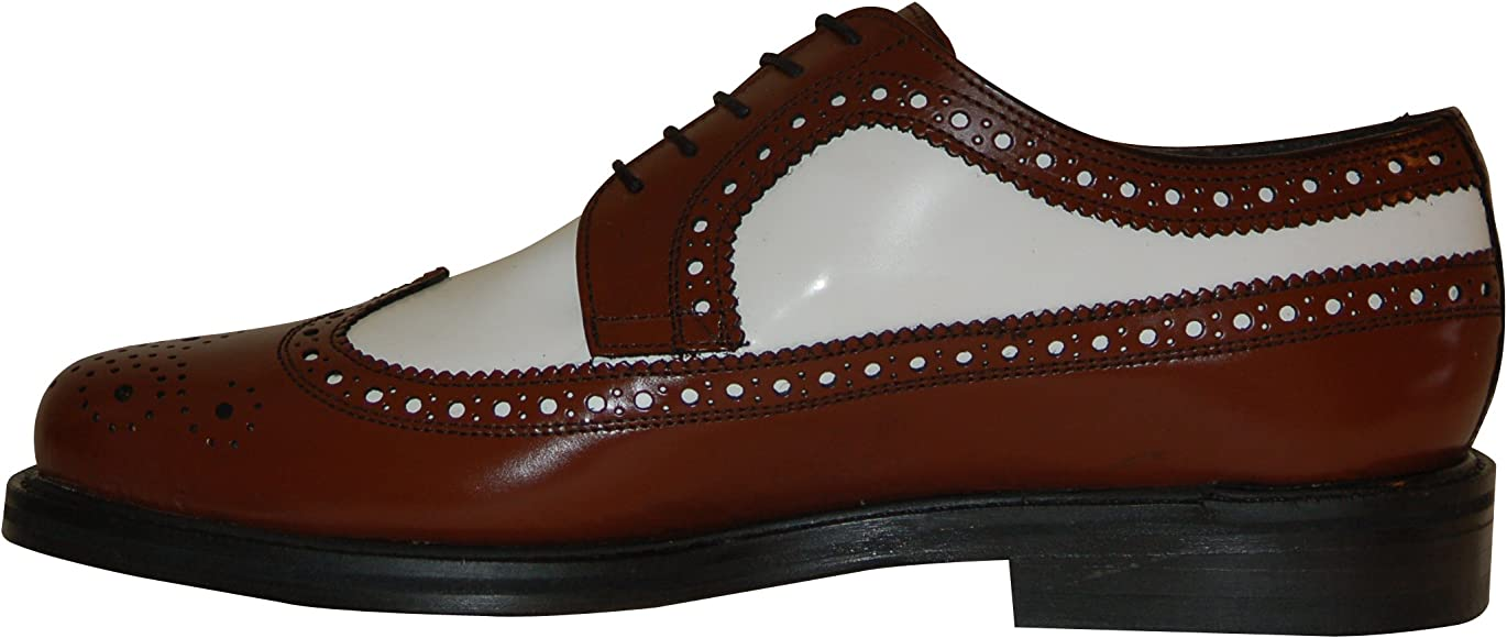 Two Tone Brogue Spectator Shoes