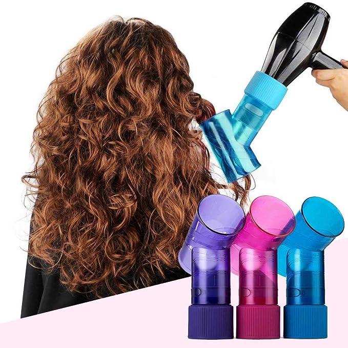 Difusor para secador de pelo para mujer, portátil, difusor de rizos y secador de pelo mágico, difusor para cabello ondulado rizado, accesorio universal para ...