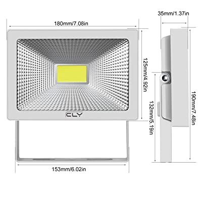 Backyard High Bright LED Floodlights Cold white-6500K Sensor Security Light for Warehouse Playground Alijees 50W Security Lights with Motion Sensor Waterproof IP66 LED Sensor Outdoor Light