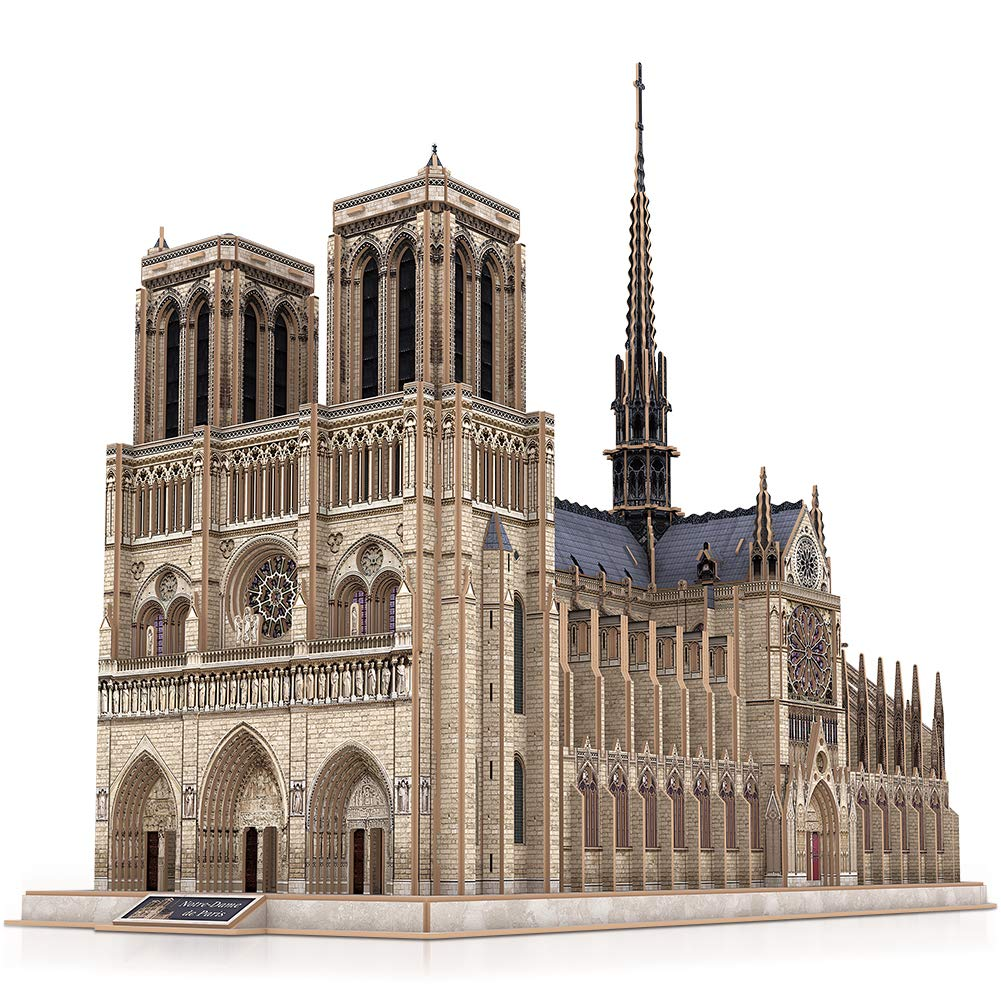 CubicFun 3D French Puzzles Large Cathedral Architecture Church Building Model Craft Kits Toys Interesting and Challenge for Adults as Hobbies Gifts, Notre Dame de Paris by CubicFun