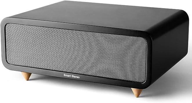 Diseño simple y generoso, elegante altavoz Bluetooth de madera, estéreo Hi-Fi sonido original inalámbrico mejor altavoz para entretenimiento en casa.: Amazon.es: Electrónica