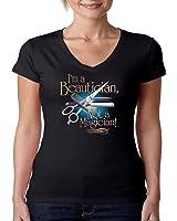 Stylist V-Neck Shirt I'm A Beautician Not A Magician JUNIORS S-2XL