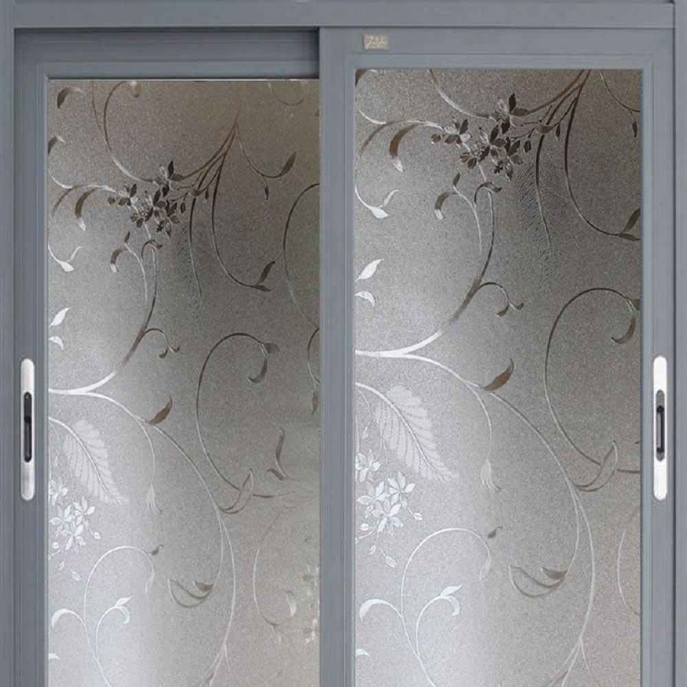 Coavas Non Adhesive Window Film Decorative Window Film
