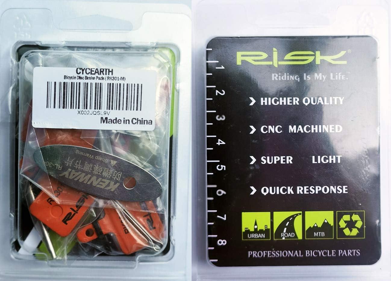 CYCEARTH 4 Pares Bicicleta Pastillas de Freno de Disco para Sram gu/ía RSC R Avid XO XX Elixir 7 9 Rastro de 4 pistones