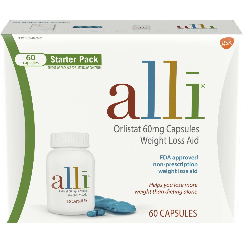 alli Weight Loss Aid Diet Pills, 60mg Starter Pack, 60 Count