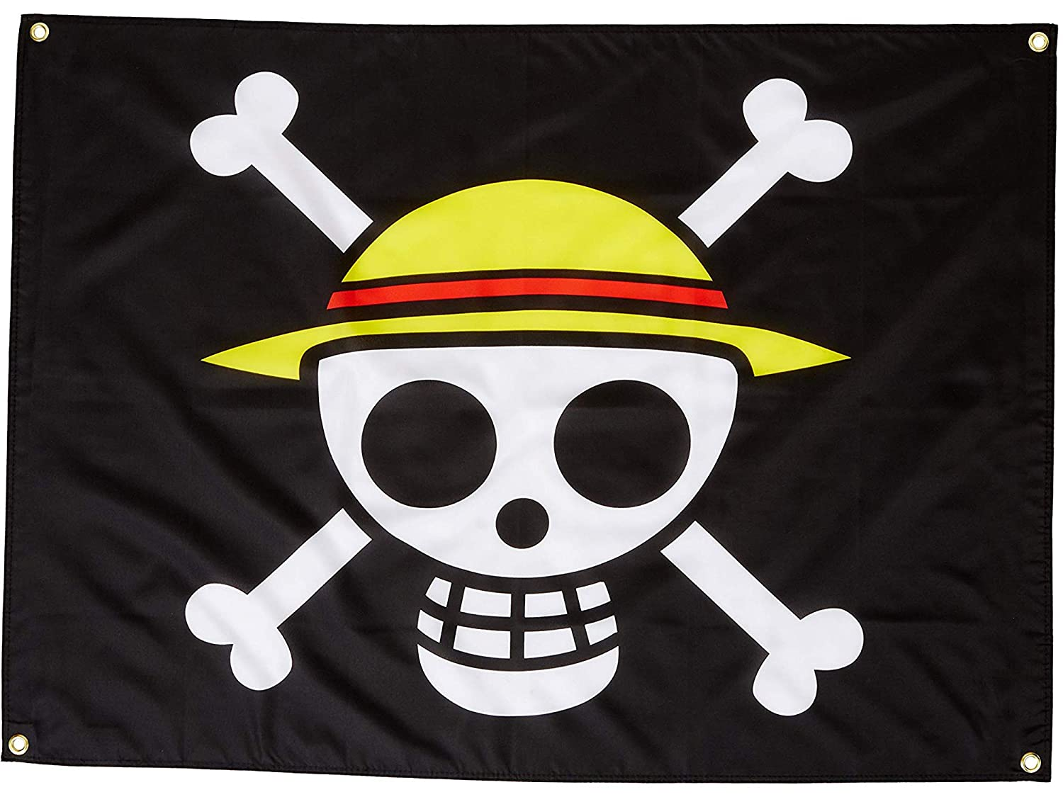3ed1128d1c7 Amazon.com: Home Decor Animation GE-6468 One Piece Luffy's Straw Hat Pirate  Flag: Home & Kitchen