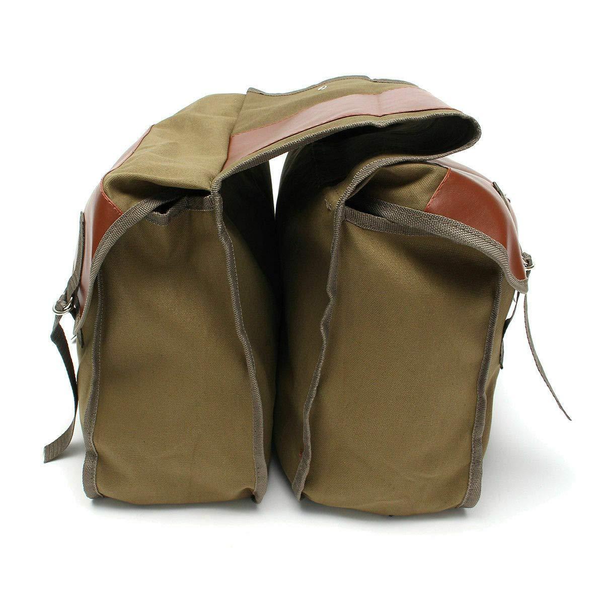 Khaki, 40 * 15 * 30cm 15 30cm Allfuu Motorrad Satteltasche Motorradkoffer Motorrad Box Segeltuch Bags Werkzeugtasche 40