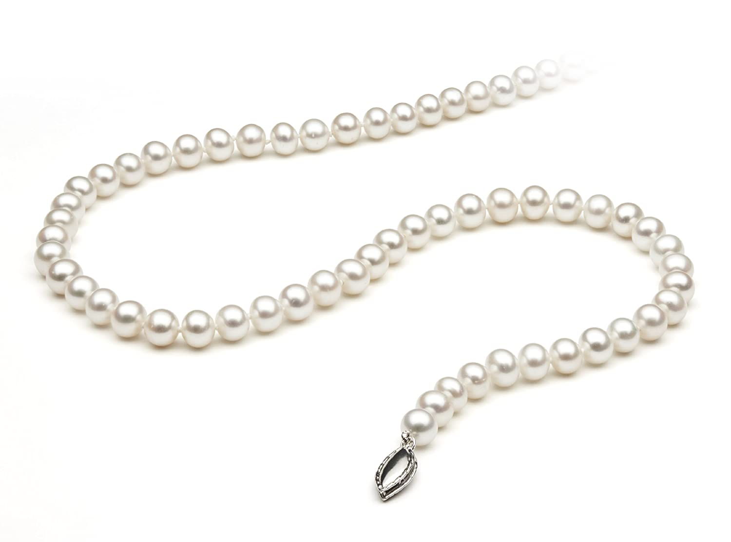 Sterling Silver White Cultured Freshwater Pearl Strand Necklace