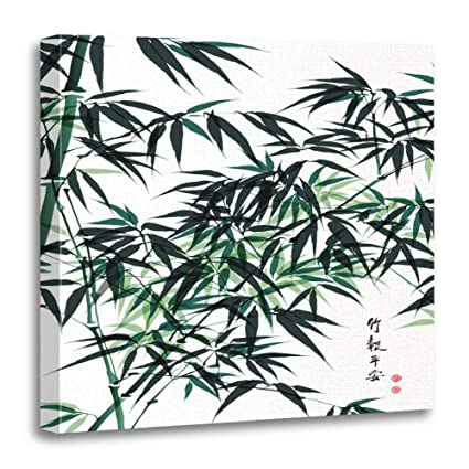 Chinese Bamboo Art Painting