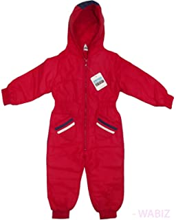 d313f25f8564 Kids Insulated Padded Snow Suit Cozy Winter Girls Boys Baby All-in ...