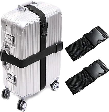 Amazon.com: Darller 2 – 4 correas de equipaje, cinturones de ...