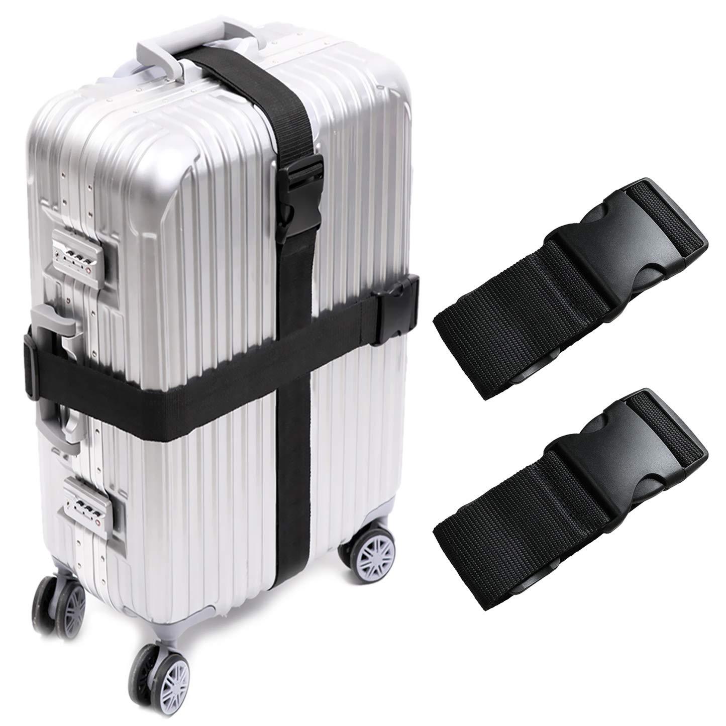 cf1a1a32cad7 Darller 2/4 PCS Luggage Straps Suitcase Belts Travel Accessories Bag Straps