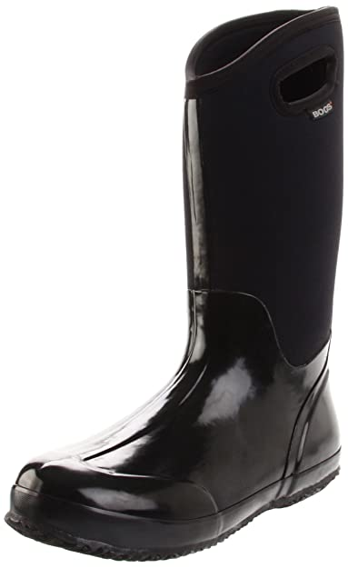 6f301cec959a Bogs Women's Classic High Handle Waterproof Insulated Boot,Black Smooth,6  ...