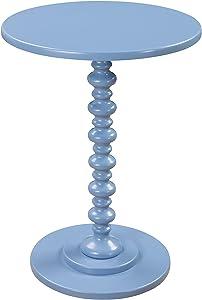 Convenience Concepts Palm Beach Spindle Table, Blue