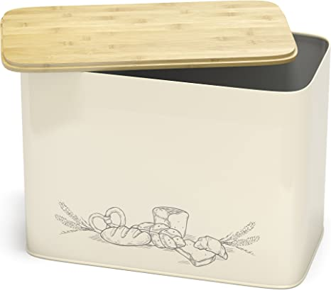 REMIFA Caja de Pan Grande- Paneras para Guardar el Pan Azul Extremadamente pr/áctica para Cortar Cesto para Pan,Caja de Pan de Metal ,Caja de Pan con Tapa,Recipiente para Pan