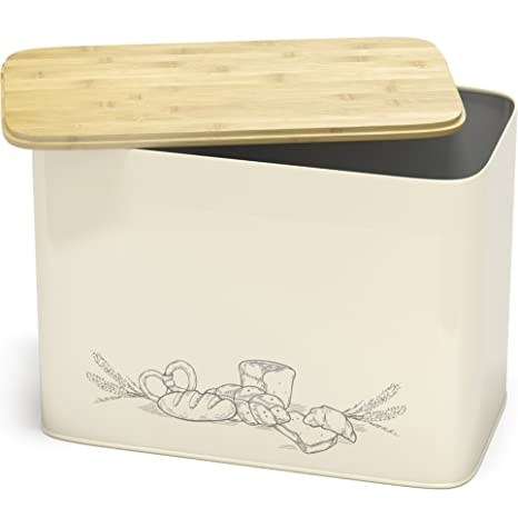 Attractive Amazon.com: Space Saving Extra Large Vertical Bread Box With Eco  VG39