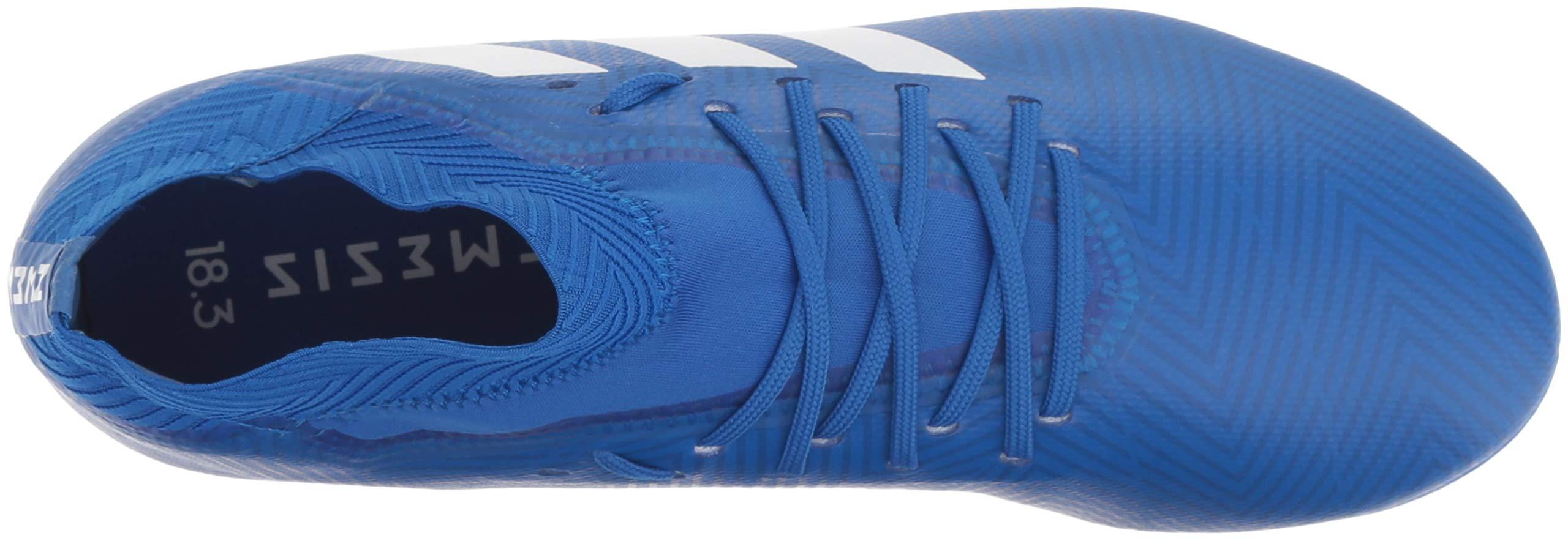 adidas Unisex Nemeziz 18.3 Firm Ground Soccer Shoe, White/Football Blue, 3.5 M US Big Kid by adidas (Image #8)