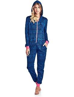 Ashford /& Brooks Mens Flannel Hooded One Piece Pajama Union Jumpsuit